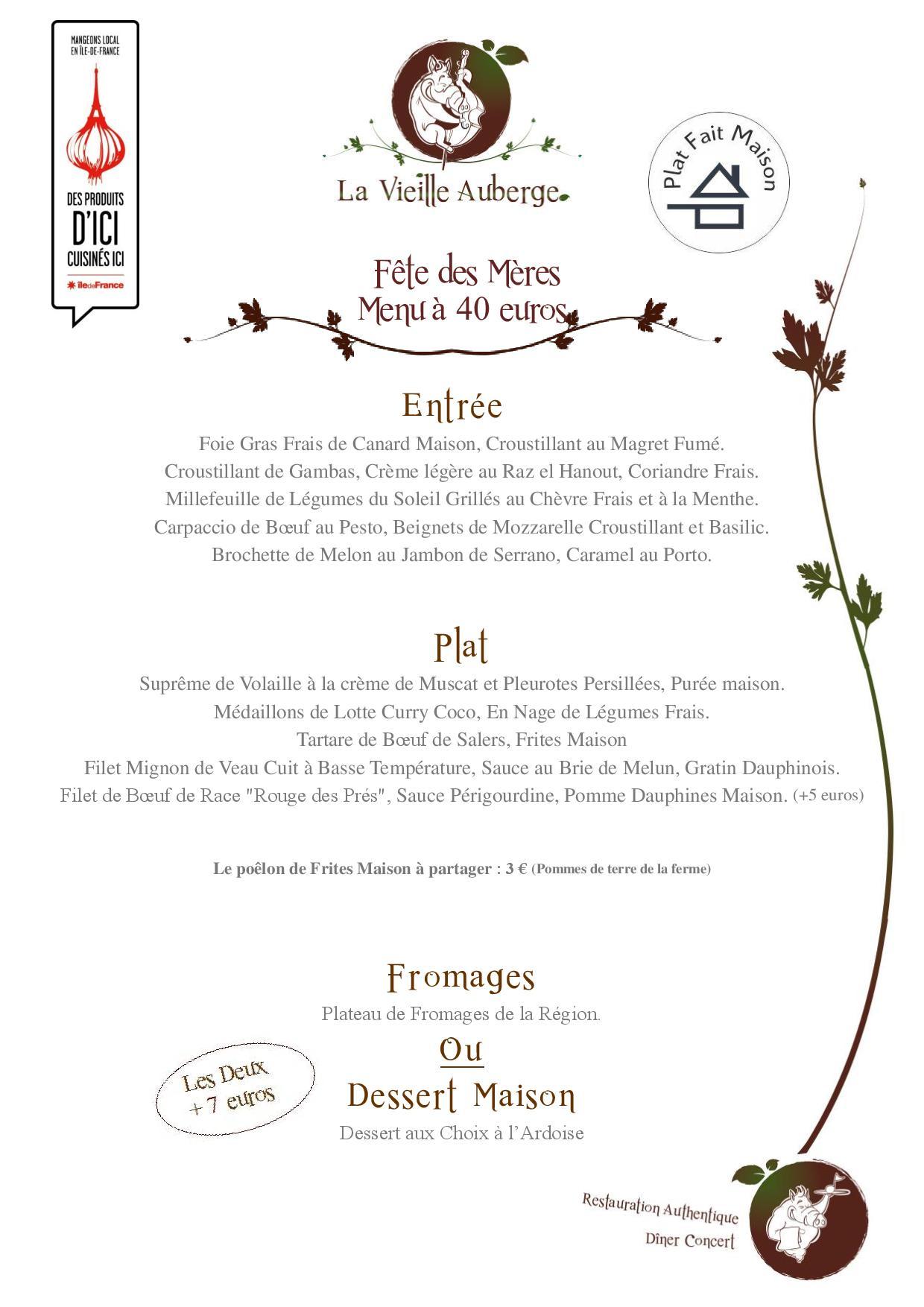 Restaurant fontainebleau melun la vieille auberge for Auberge de crisenoy melun